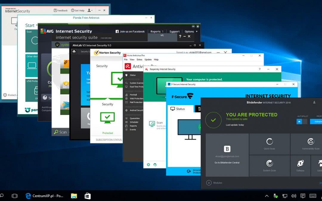 Najlepsze antywirusy dla Windowsa 10