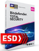 Bitdefender Total Security 2021 PL Multi-Device (5 stanowisk, 12 miesięcy) - wersja elektroniczna