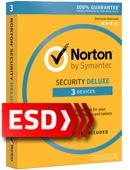 Norton Security Deluxe 2017 PL (3 stanowiska, odnowienie na 12 miesięcy) - wersja elektroniczna