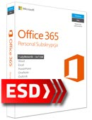 Office 365 PL Personal (1 stanowisko, subskrypcja na 1 rok) ESD