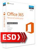 Office 365 PL Personal (1 stanowisko, odnowienie subskrypcji na 12 miesięcy) ESD