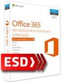 Office 365 PL dla Użytkowników Domowych (5 stanowisk, subskrypcja na 12 miesięcy) ESD
