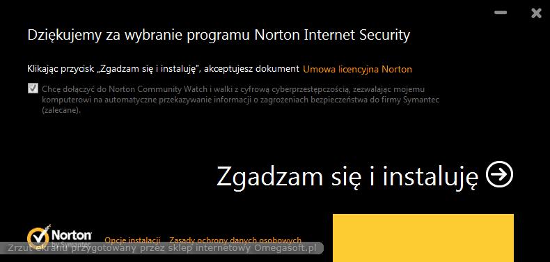 Instrukcja instalacji Norton 2013