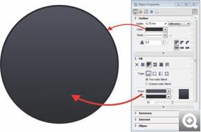 Corel Draw X6 Okno dokowane Właściwości obiektu