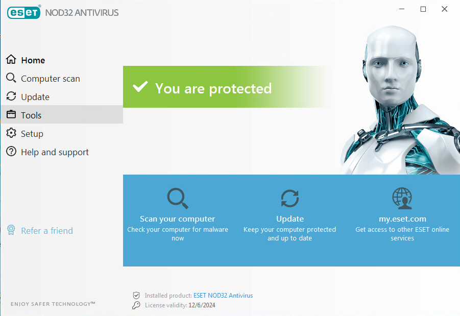 Eset Nod32 Antivirus - home