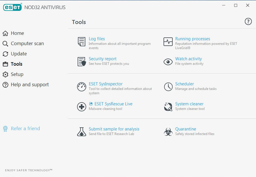 Eset Nod32 Antivirus - tools
