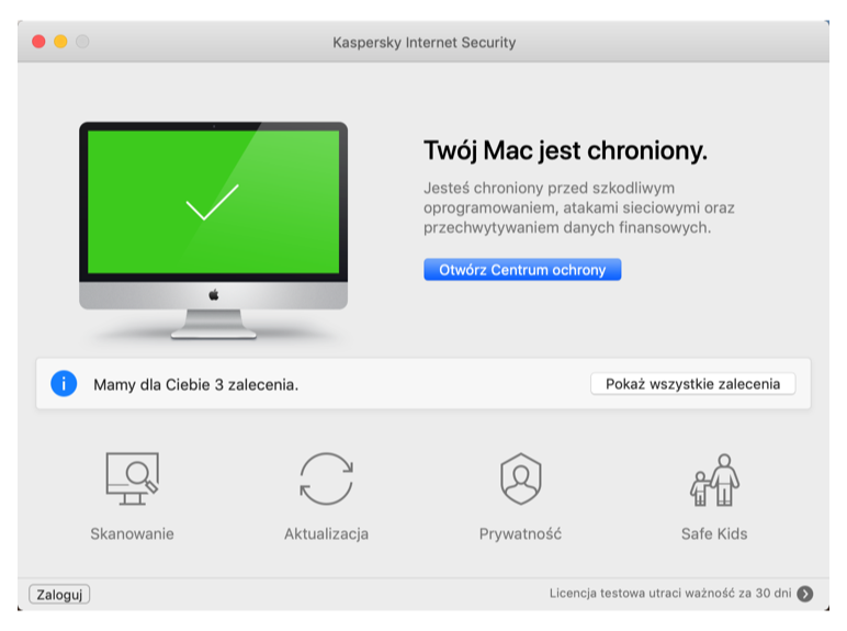 Kaspersky Total Security dla MAC