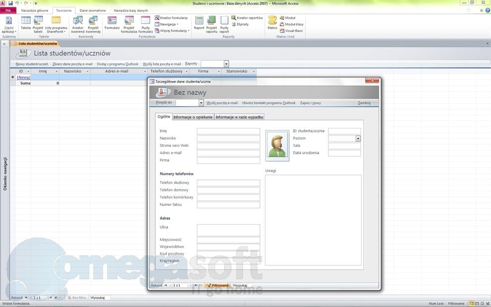 ms access templates 2010